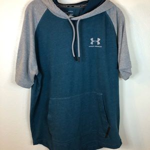 Under Armour large sportstyle hoodie green gray